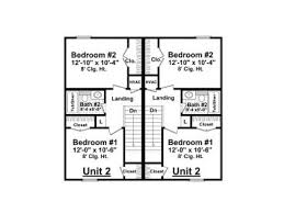 duplex house plans two story multi family home plan 001m 0006
