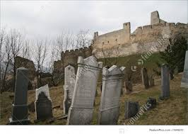 historical architecture old castle cemetery stock image