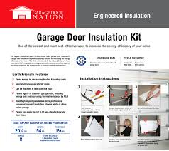 Garage Door Safety Features by Garage Door Insulation Kit A Ratings U0026 Made In Usa Garage