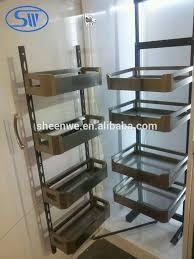 panier cuisine moderne armoires de cuisine en acier inoxydable panier de rangement