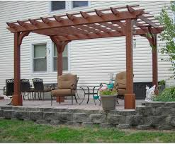 Lowes Arbor Kits by Patio U0026 Pergola Superb Red Cedar Free Standing 2 Beam Pergolas