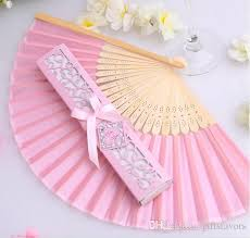 personalized wedding fans to brazil personalized pink white black luxurious silk fold