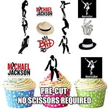 michael cake toppers michael jackson party mix edible cupcake toppers cake