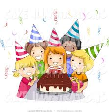 birthday party clipart free clipartxtras