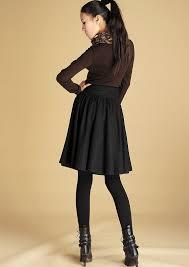 Wool Skirts For Winter Wool Skirt Womens Clothingblack Skirt Midi Skirt Skirt