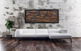 reclaimed wood wall art ideas