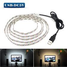 smd led strip light 5v 50cm 1m 2m 3m 4m 5m usb cable power led strip light lamp smd