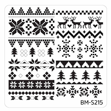 christmas themed nail art stamping plates occasions collection