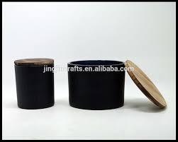 grossiste contenant verre mat noir et blanc personnalisé contenant de bougie en verre