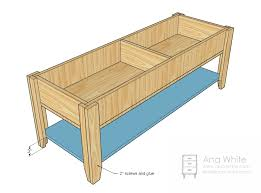 Free Building Plans For Outdoor Furniture by Ana White Wooden Train Table Coffee Table Diy Projects
