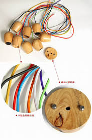 online shop free shipping vintage ikea wood lamp 120cm color wire