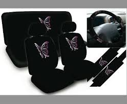 housse de siege voiture universal set violet 11 pc papillon housses de siège de voiture