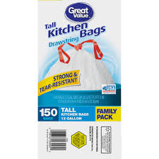 Furniture Grippers Walmart by Great Value 13g Drawstring 150ct Walmart Com