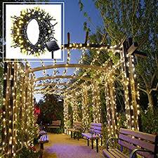 amazon com solar led string lights outdoor warm white christmas