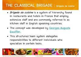 brigade de cuisine chapter 1 the foodservice industry