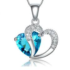 best necklace stores images Best deal new crystal pendant necklaces heart chain valentine jpg