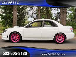 subaru sti 2006 2006 subaru impreza wrx turbo white sparco wheels for sale in