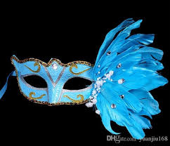 feather mask 2017 new mask muffle festival christmas feather mask