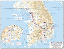 Map Of The Up Map Of The Korean War End Of September 1950