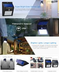 Led Outdoor Sensor Light Motion by Amazon Com Housmile 16 Led Solar Lights Wireless Waterproof