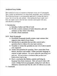 Examples Of Essay Outlines Format 34 Outline Examples In Word