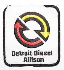 vintage detroit diesel allison embroidered patch trucks and