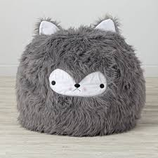 furry bunny bean bag chair the land of nod