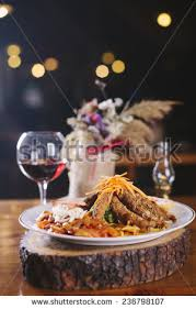 Main Dishes For Christmas - boxing day buffet lunch christmas tree stock photo 14401324