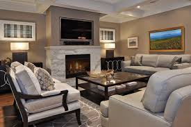 Living Room Set Up Ideas Living Room Setup With Fireplace And Yellow Chandelier Lighting