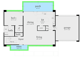 modern home floor plan compact modern home plan 44104td architectural designs house