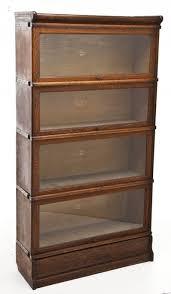 4 stack oak barrister bookcase