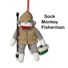 sock monkey company sock monkey fisherman ornament