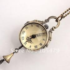 ladies necklace watch images Fashion women crystal ball necklace watches ladies bronze copper jpg