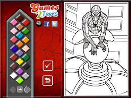 spiderman coloring pages kids spiderman coloring pages