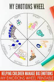 my emotions wheel printable childhood101
