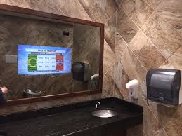 mirror bathroom tv bathroom new tv behind mirror bathroom on a budget fantastical