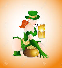 with beer and pot of gold royalty free cliparts vectors