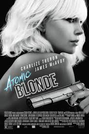 atomic blonde movie poster 2 sided original final 27x40 charlize