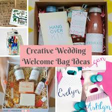wedding gift bag ideas creative wedding welcome bag ideas allfreediyweddings