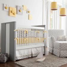 Gray And Yellow Nursery Decor Gray And Yellow Zig Zag Baby Crib Bedding Carousel Designs Zig