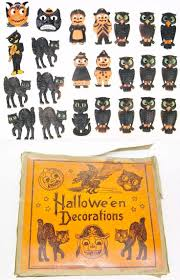 halloween owls 182 best vintage diecuts for halloween decorating images on