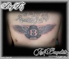 mens chest tattoos lettering 10 latest bentley tattoos