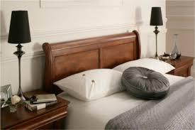 Double Bed Frame Design Louie Dark Wooden Sleigh Bed Wooden Sleigh Beds Wooden Beds Beds