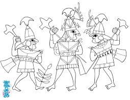 moche warriors coloring pages hellokids