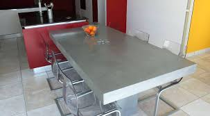 table de cuisine pied central table de cuisine pied central plan cuisine design en b ton cir