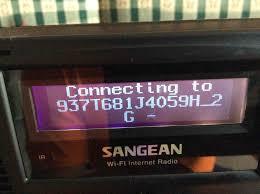changing wireless network on sangean wfr 20 wi fi internet radio