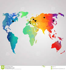 Australia On A World Map by Vector Watercolor Map Of Australia On A White Background Stock
