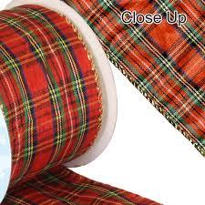 tartan ribbon tartan ribbon wired edge the essentials company