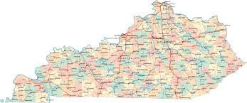kentucky map kentucky ky travel around usa
