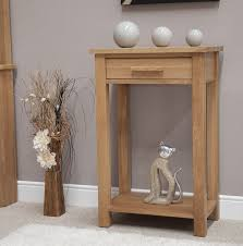 Small Foyer Table by Furniture Small Oak Foyer Table With Drawer And High Shelf
